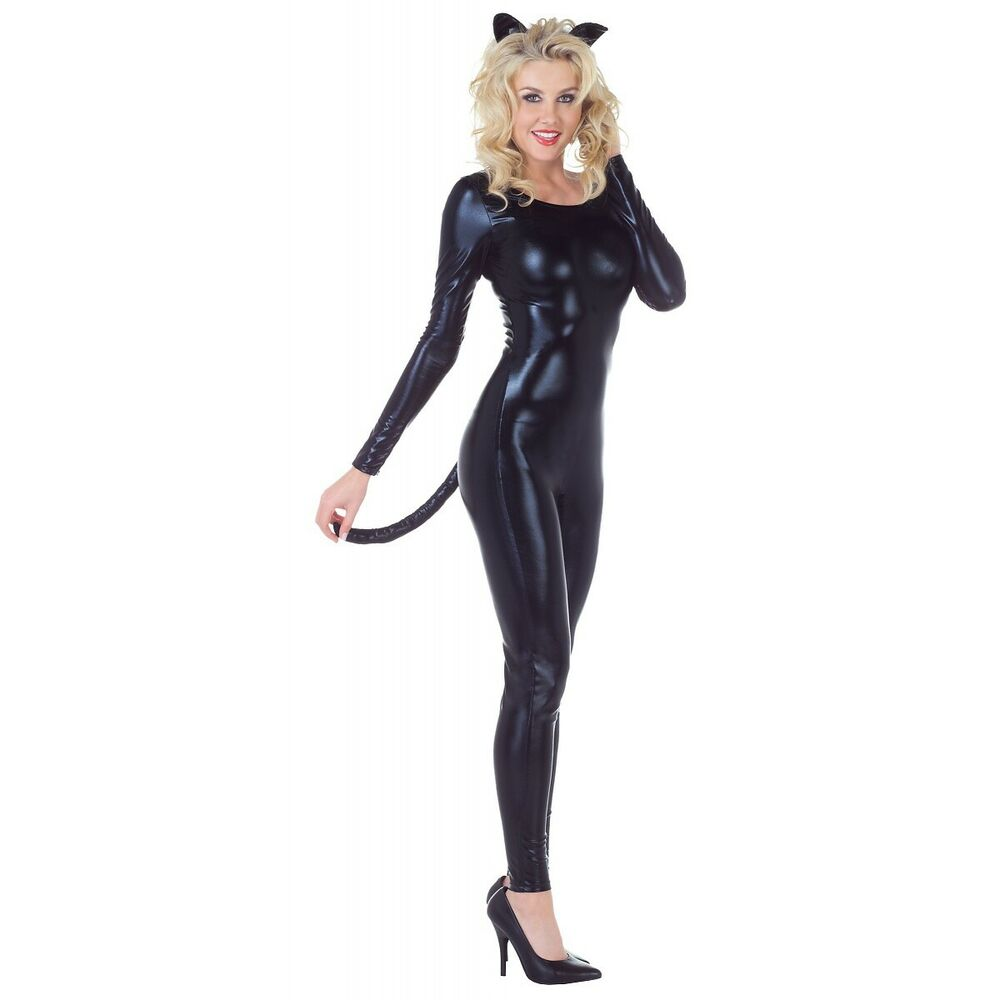 Minx Black Cat Suit Costume Adult Womens Sexy Catwoman ...