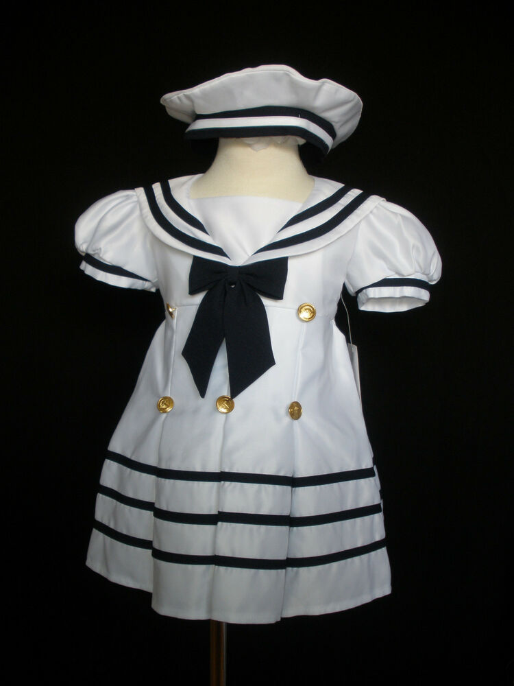 Sailor nautical holiday party dress outfits new born 4 years ebay