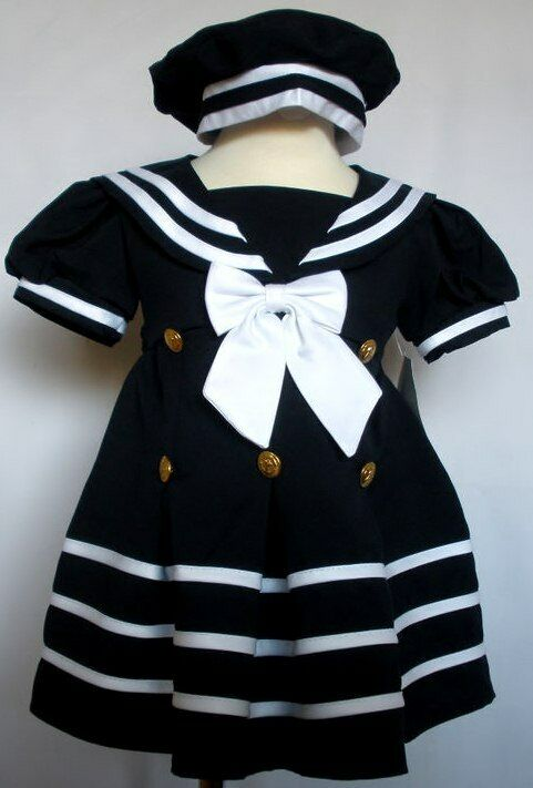 Dress any little darling in the timeless beauty of a nautical dress. These sailor-inspired dresses speak of a simpler time when little girls wore frocks and went out with parasols. Now once again fashionable, the nautical theme has been combined with modern cuts and designs so that girls can enjoy the best dresses with a classic style.