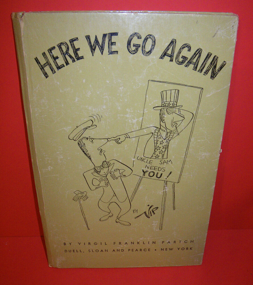 Cannes Here We Go: Here We Go Again Uncle Sam Needs You Vtg Cartoon Book