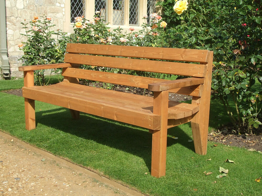 Wooden Patio Bench ~ Garden bench commercial grade ebay