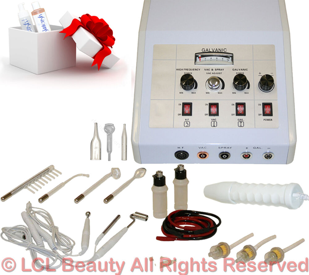 4 in 1 high frequency galvanic vacuum spray facial machine for Beauty spa equipment