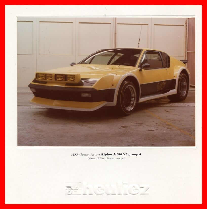heuliez photo project for the renault alpine a310 v6 groupe 4 1977 ebay. Black Bedroom Furniture Sets. Home Design Ideas