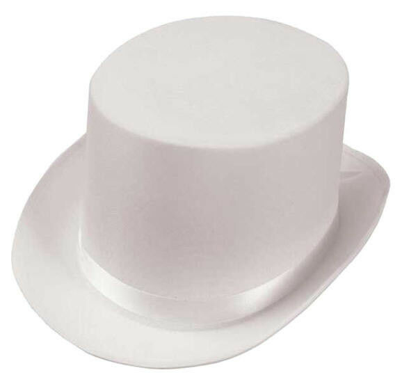 White Satin Top Hat Magician New Lot of 10 for New Years Eve Party ...