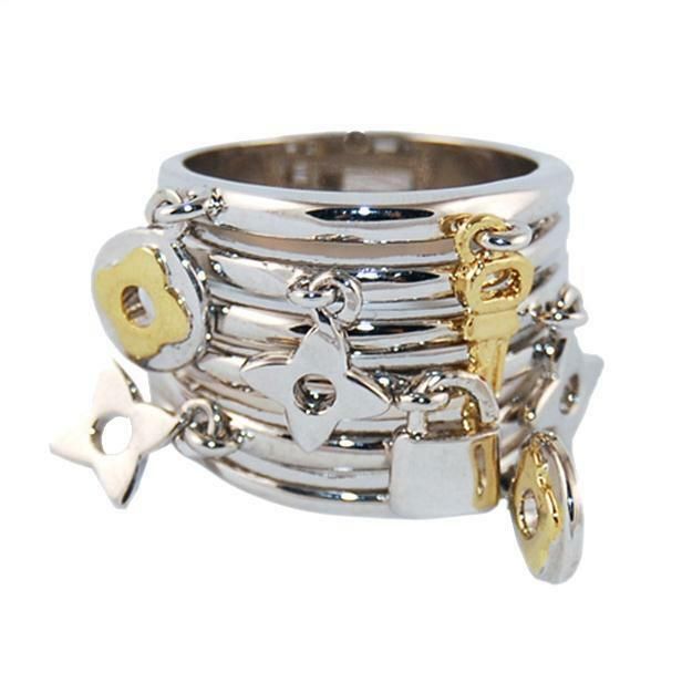 Sterling Silver Rings With Dangling Charm