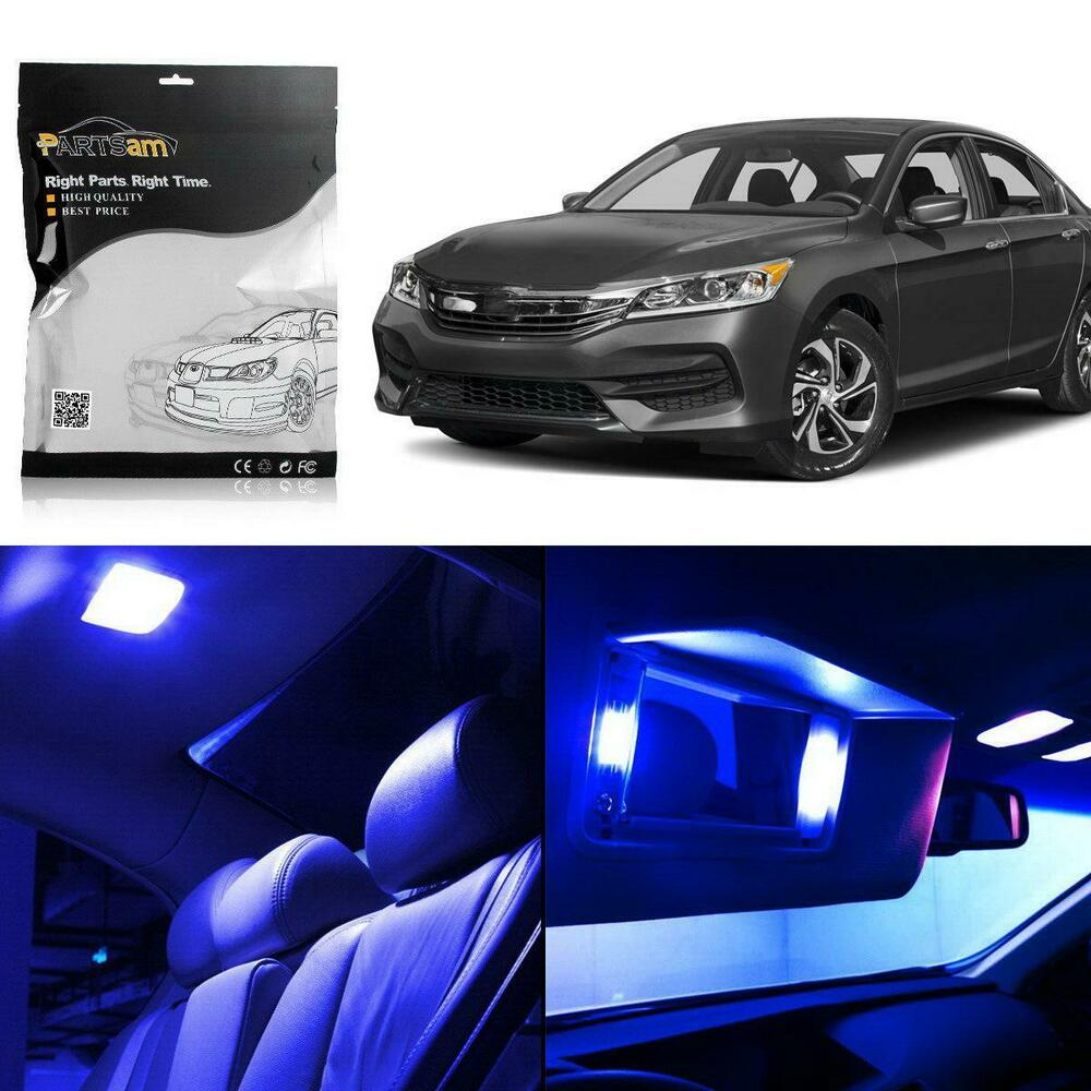 8x interior lights package blue led bulbs for honda accord 2003 12 sedan coupe ebay. Black Bedroom Furniture Sets. Home Design Ideas
