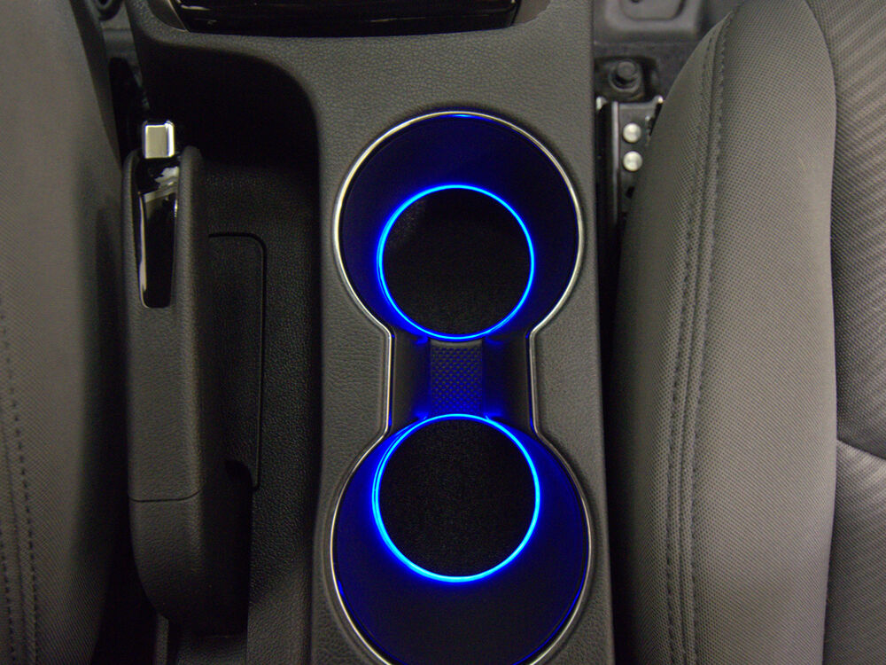 Led cup holder lights blue leds fits 2011 2015 hyundai elantra custom mod ebay for Led car interior lights ebay