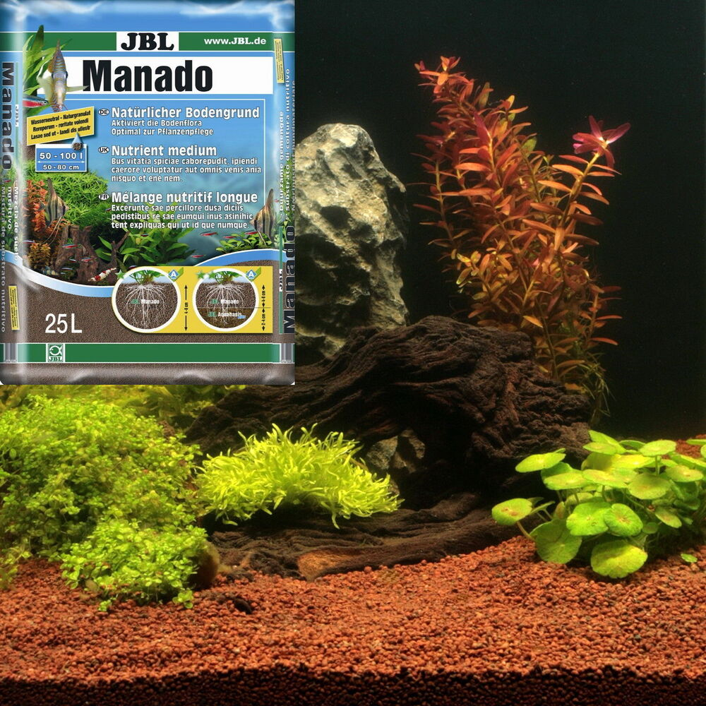 jbl manado 25 l aquarium natur bodengrund kies ebay. Black Bedroom Furniture Sets. Home Design Ideas