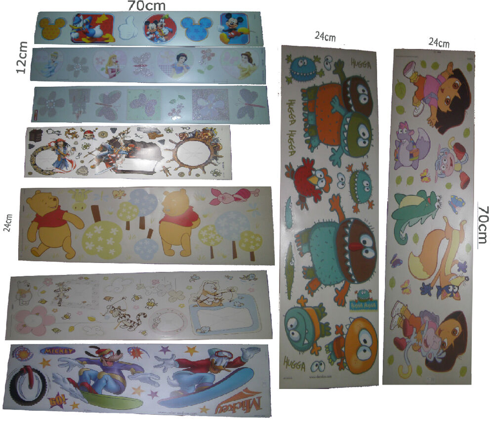 Gro e kinder wandsticker m belsticker wandtattoo disney for Kinder wandsticker