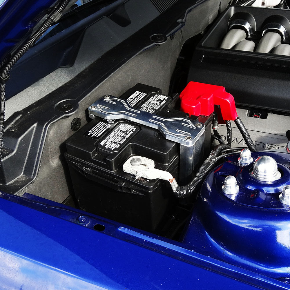 2011 2012 2013 Ford Mustang Billet Battery Hold Down Kit