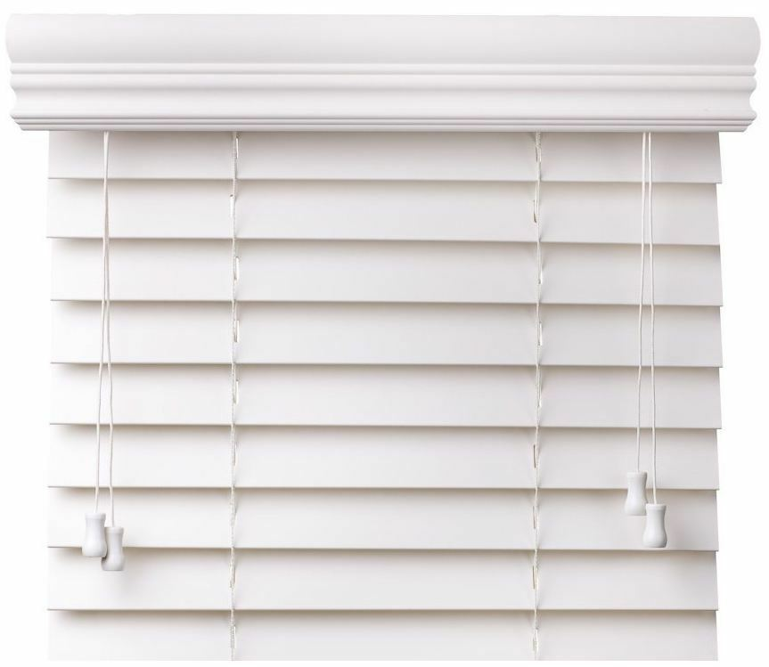 Value Priced Faux Wood Window Blinds Two Colors Free