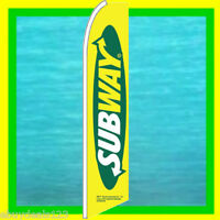 SUBWAY BANNER FLAG Advertising Sign Feather Swooper Bow Flutter