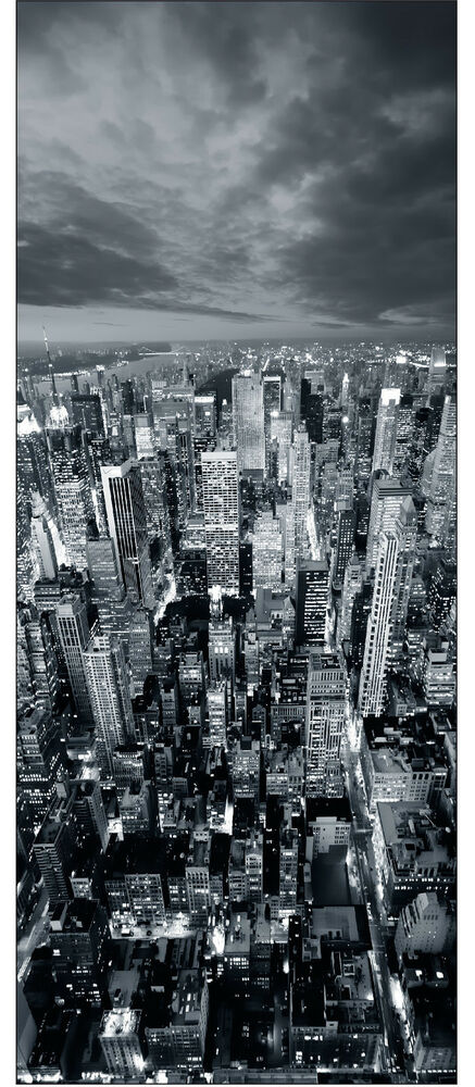 affiche poster porte d co trompe l 39 oeil new york r f 728. Black Bedroom Furniture Sets. Home Design Ideas