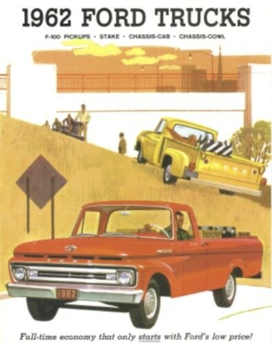 Ford Truck 1962 Sales Brochure 62 Pick Up Ebay
