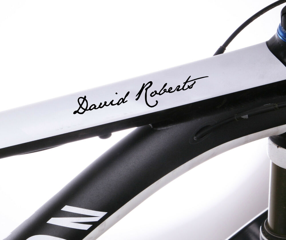 Details about 2x personalised bike name stickers frame cycle cycling decals