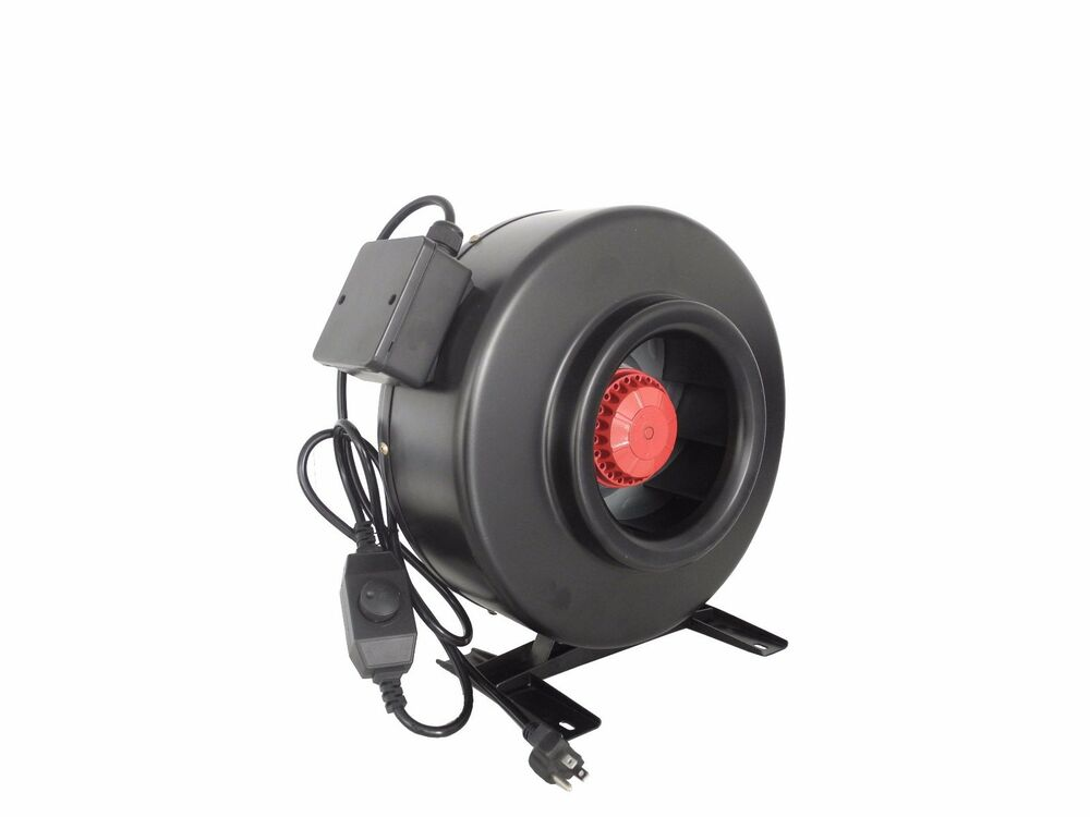4 Inch Inline Fan : Quot inch inline duct fan blower high cfm cool