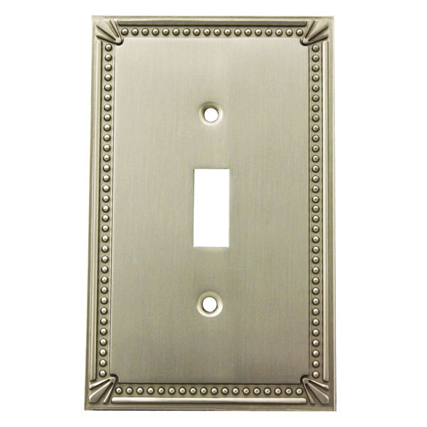 Satin nickel single toggle decorative wall switchplate cover 44055 sn ebay - Wall switch plates decorative ...
