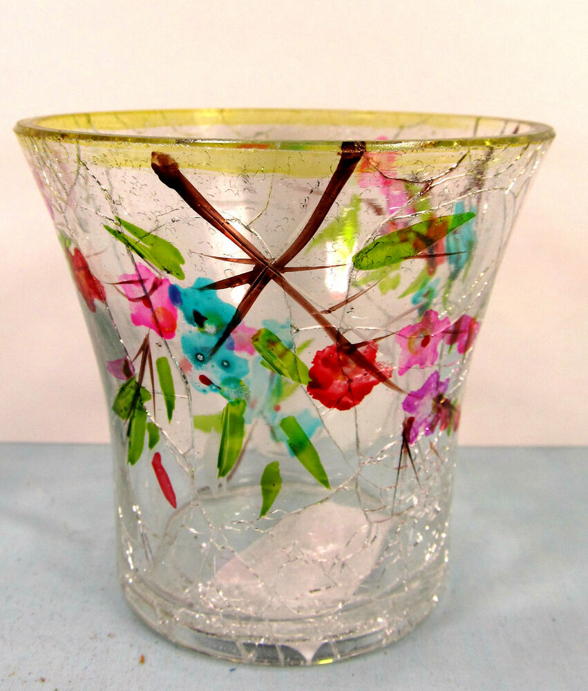 Http Www Ebay Com Itm Tree Blossoms Crackle Glass Votive Candle Holder Home Decor 290843352802