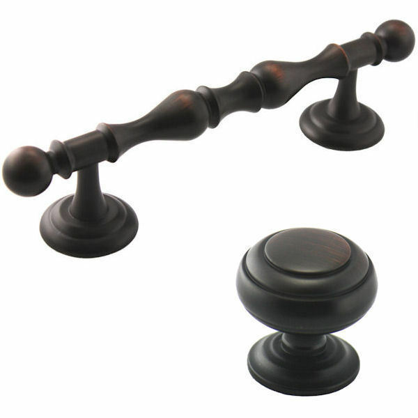 Cosmas oil rubbed bronze cabinet hardware knobs pulls for 4 kitchen cabinet pulls