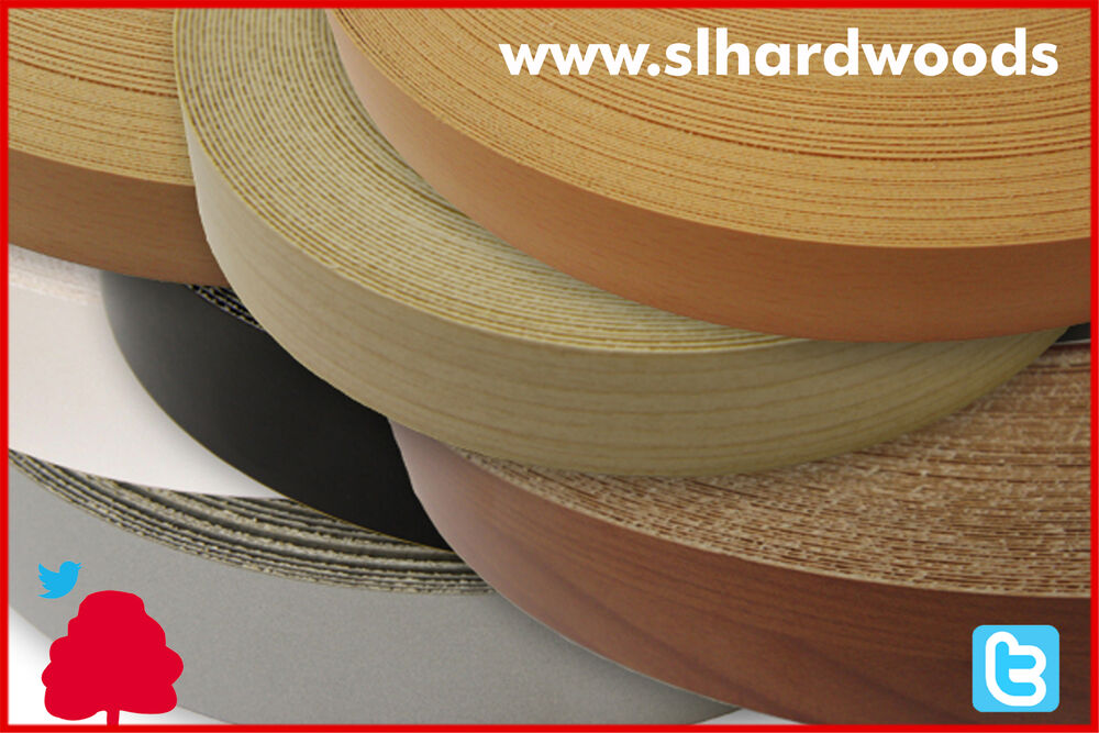 Pre Glued Iron On Edging Melamine Veneer Tape Edge Banding