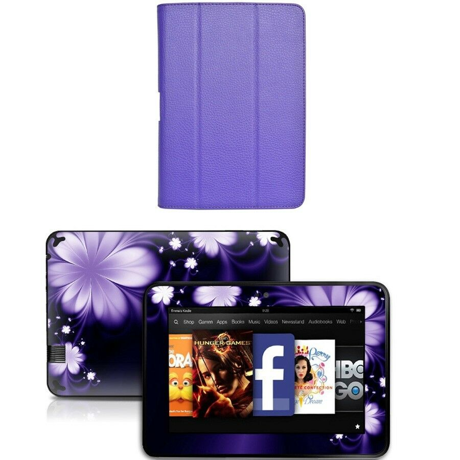 Genuine Leather Case Cover For Amazon Kindle Fire Hd 8 9