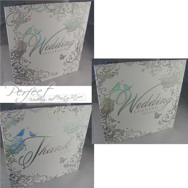 Wedding Day Gift Card : Wedding Day Evening Reception Thank You Gift Card Invitations Silver ...