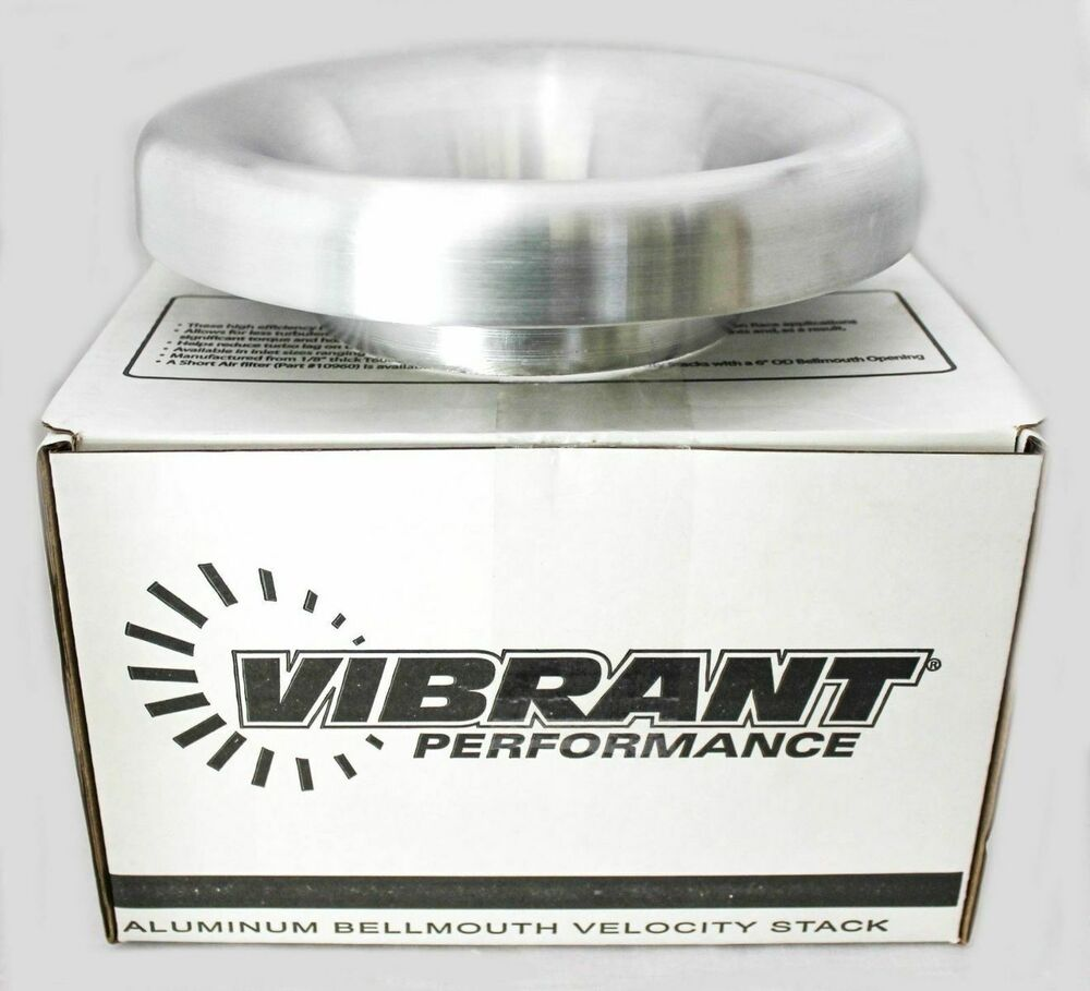 Vibrant bellmouth velocity stack aluminum quot inlet