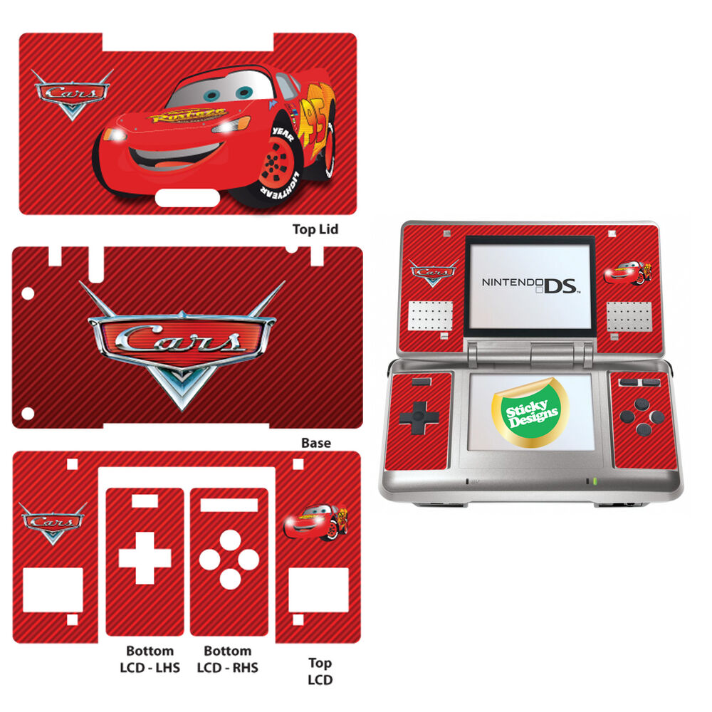 cars lightning mcqueen vinyl skin sticker for nintendo ds original ebay. Black Bedroom Furniture Sets. Home Design Ideas