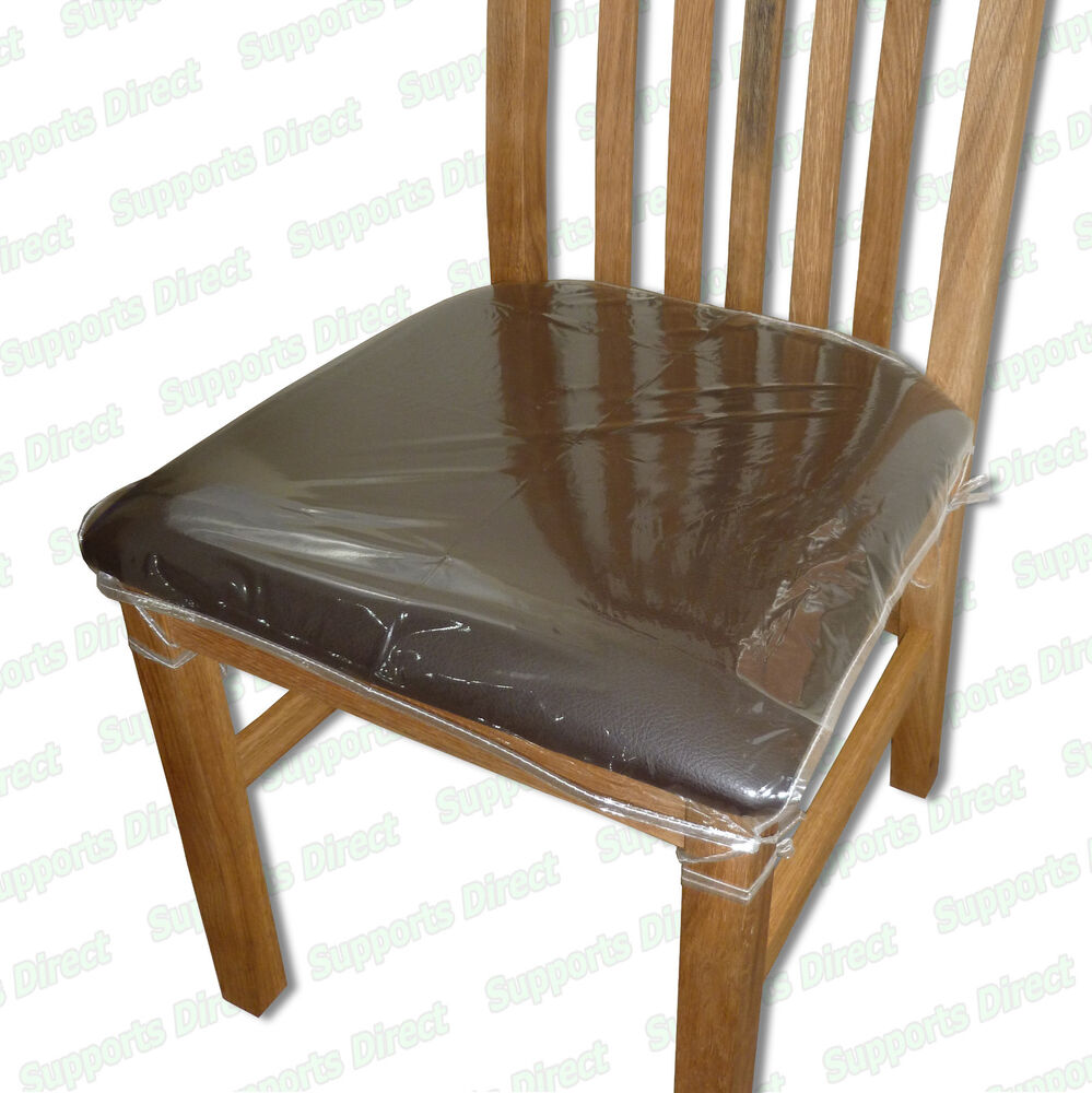 strong dining chair protectors clear plastic cushion seat covers protection ebay. Black Bedroom Furniture Sets. Home Design Ideas