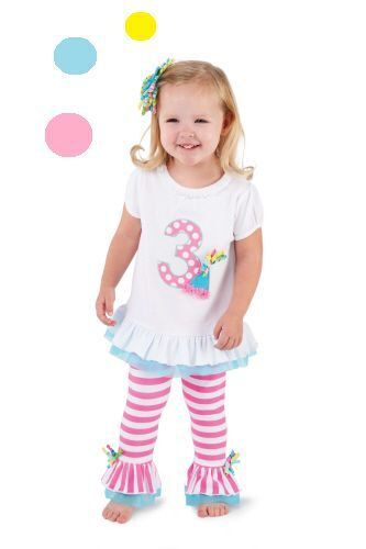 NWT MUD PIE Baby Girl 1st, 2nd or 3rd Birthday Outfit with ...