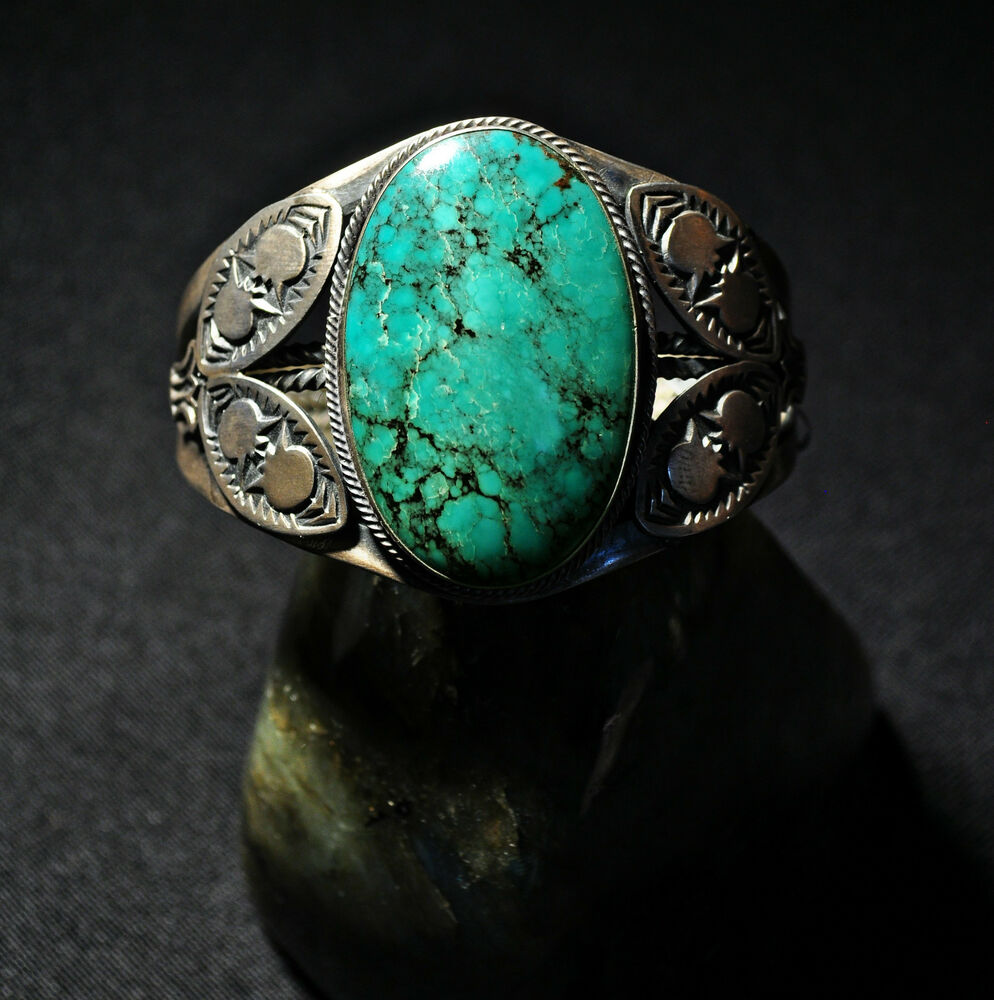 native american turquoise and silver handcrafted cuff. Black Bedroom Furniture Sets. Home Design Ideas