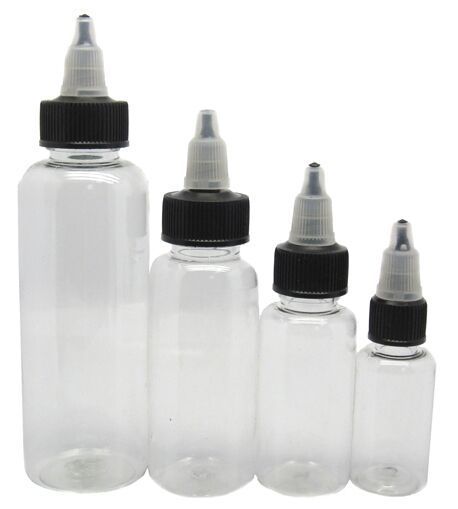 Plastic empty twist top 1oz ink bottles clear 10 pack for What to do with empty plastic bottles