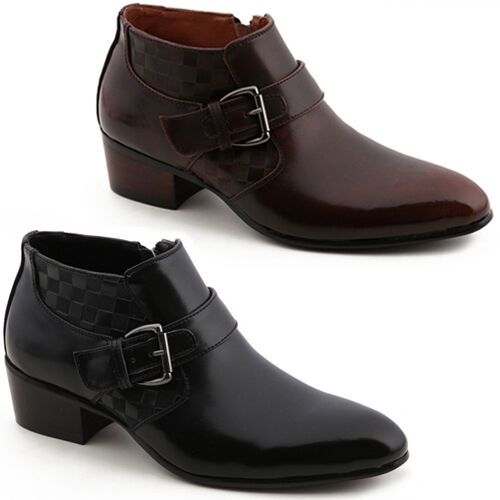 new band mooda fashion mens dress formal leather zip ankle
