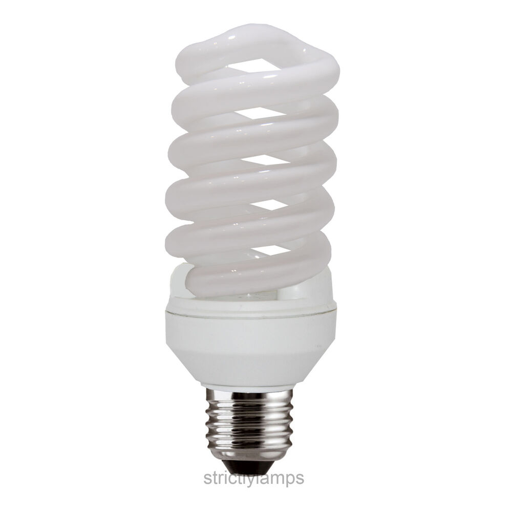 Cool White 35w Energy Saving Spiral Light Bulb Very Bright