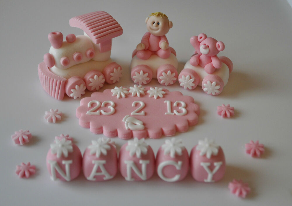Cake Decorations Uk Baby : EDIBLE CHRISTENING BABY TRAIN DECORATION BIRTHDAY CAKE ...