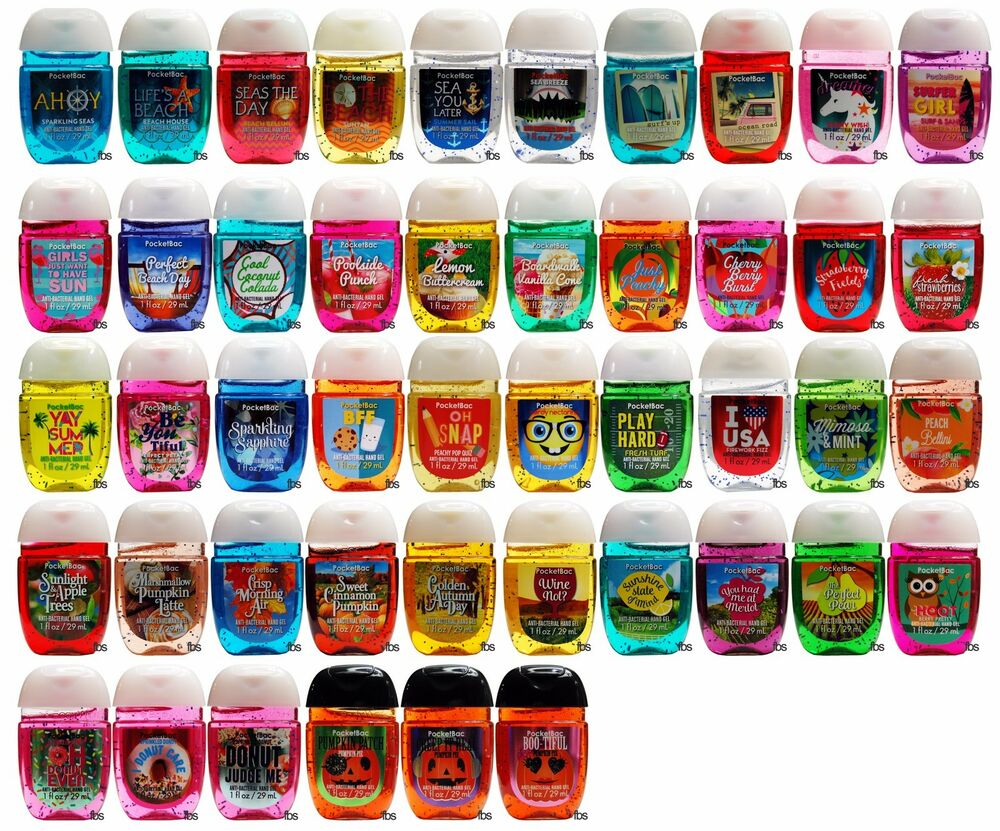 Bath body works pocketbac lot of 8 assorted mixed scent for Bath and body works scents best seller