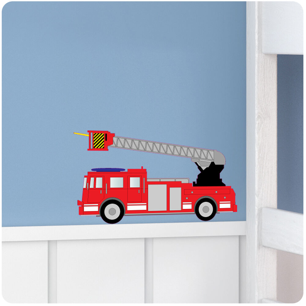 Fire Engine Nursery Bedroom Vinyl Wall Stickers/Decals