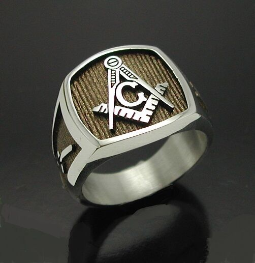 Sterling Silver 925 Masonic Ring 006br Blue Lodge
