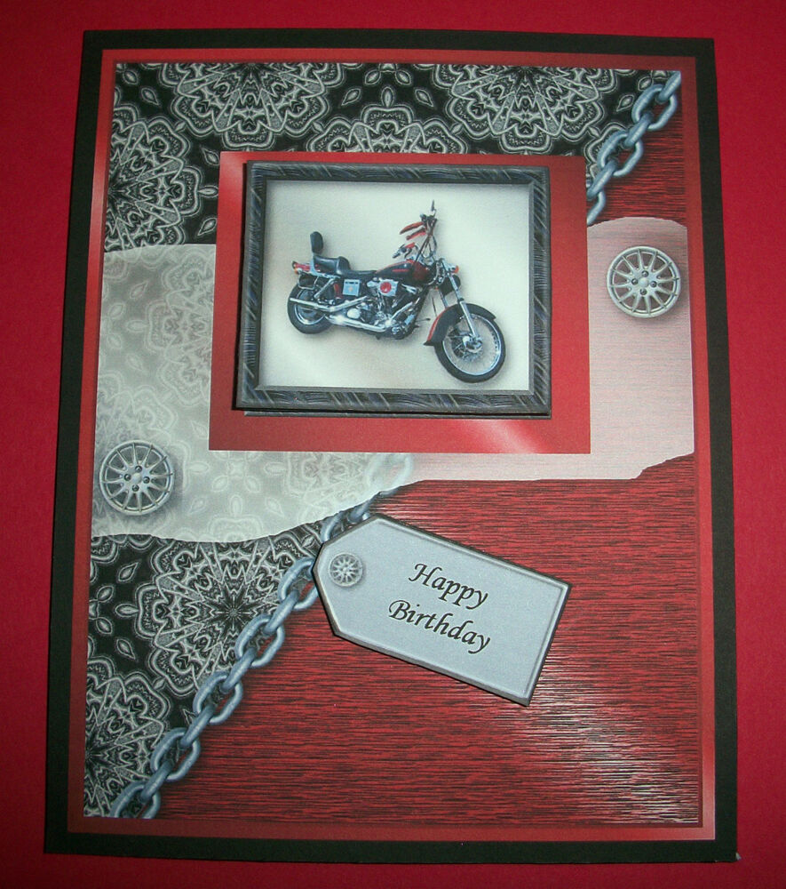 Handmade Greeting Card 3D With A Motorcycle | eBay
