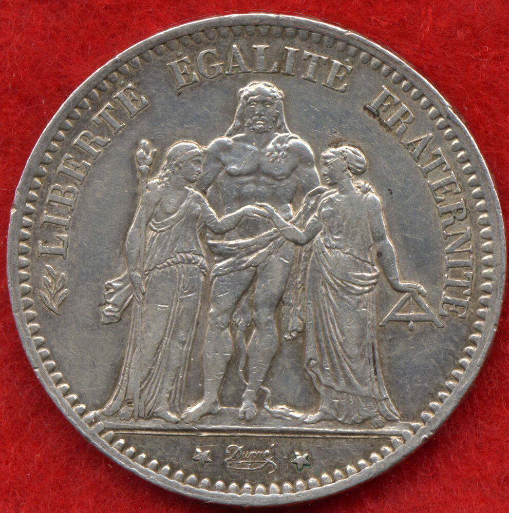 superb rare 5 francs 90 silver france coin 1876 a 25 gr vf ebay. Black Bedroom Furniture Sets. Home Design Ideas