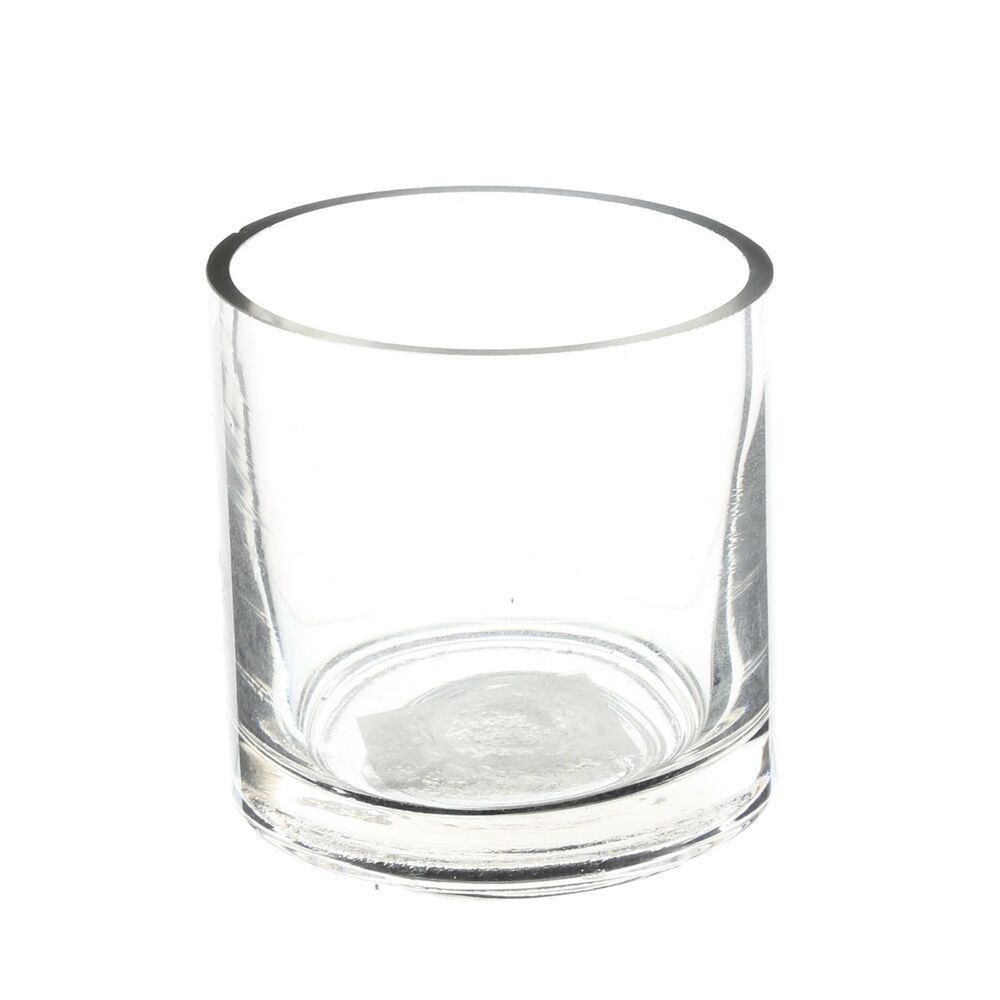 """Wholesale Clear Cylinder Glass Vase 3"""" Opening x 3"""" Height"""