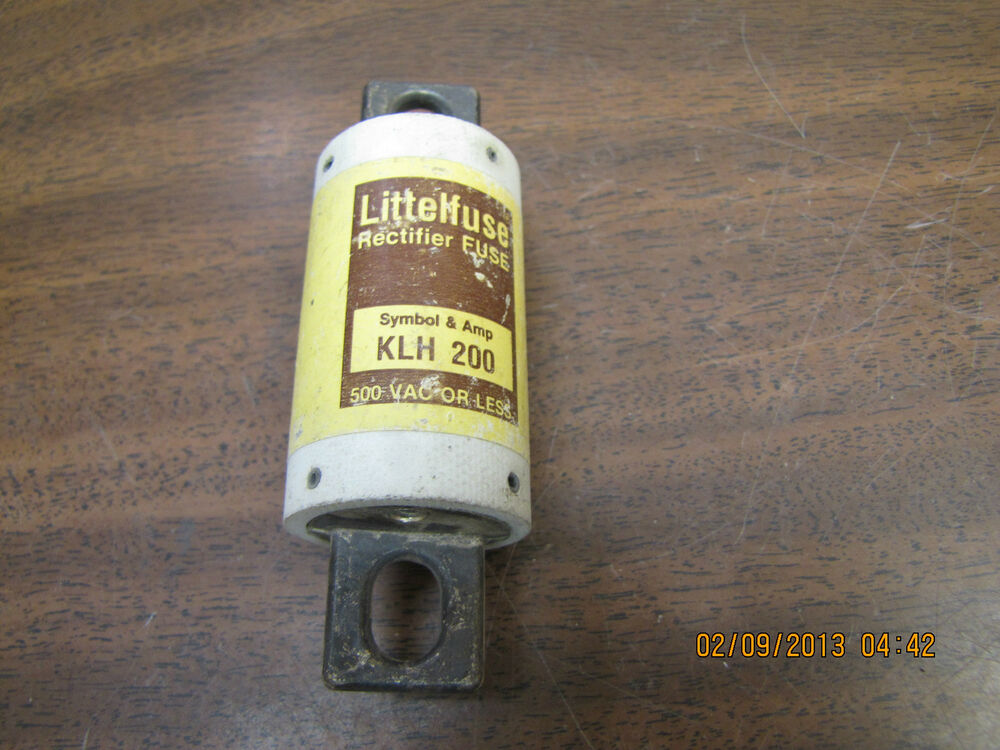 New Littelfuse Klh 200 Rectifier Fuse 200a 200 Amp A 500vac Klh200