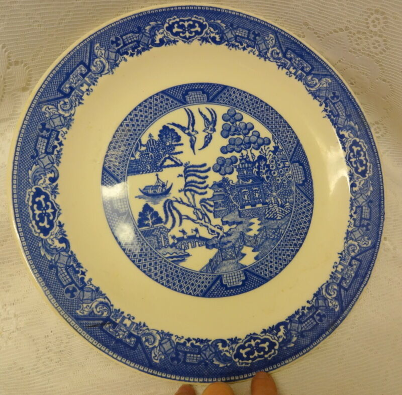 Vintage willow ware by royal china decorative plate ebay for Decoration plates