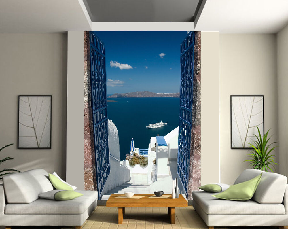 papier peint g ant 2 l s tapisserie murale d co vue sur mer r f 177 ebay. Black Bedroom Furniture Sets. Home Design Ideas