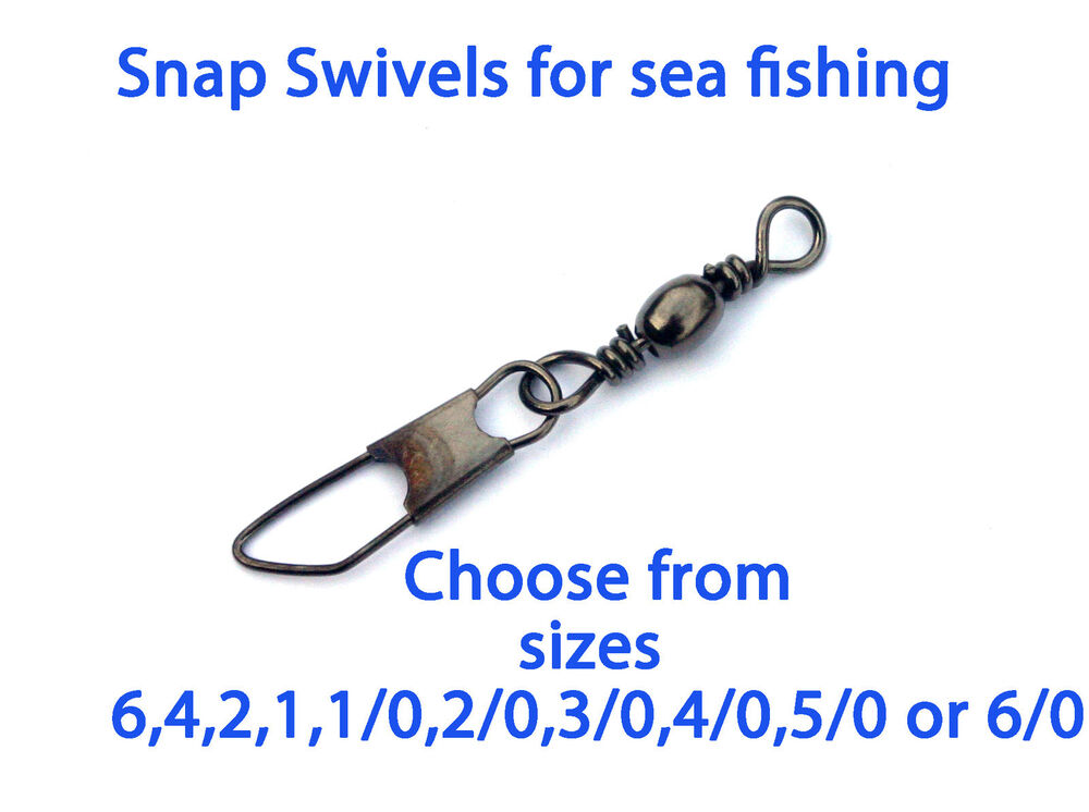 100 american snap swivels sea fishing sizes 6 0 5 0 4 0 3 for Fishing swivel sizes