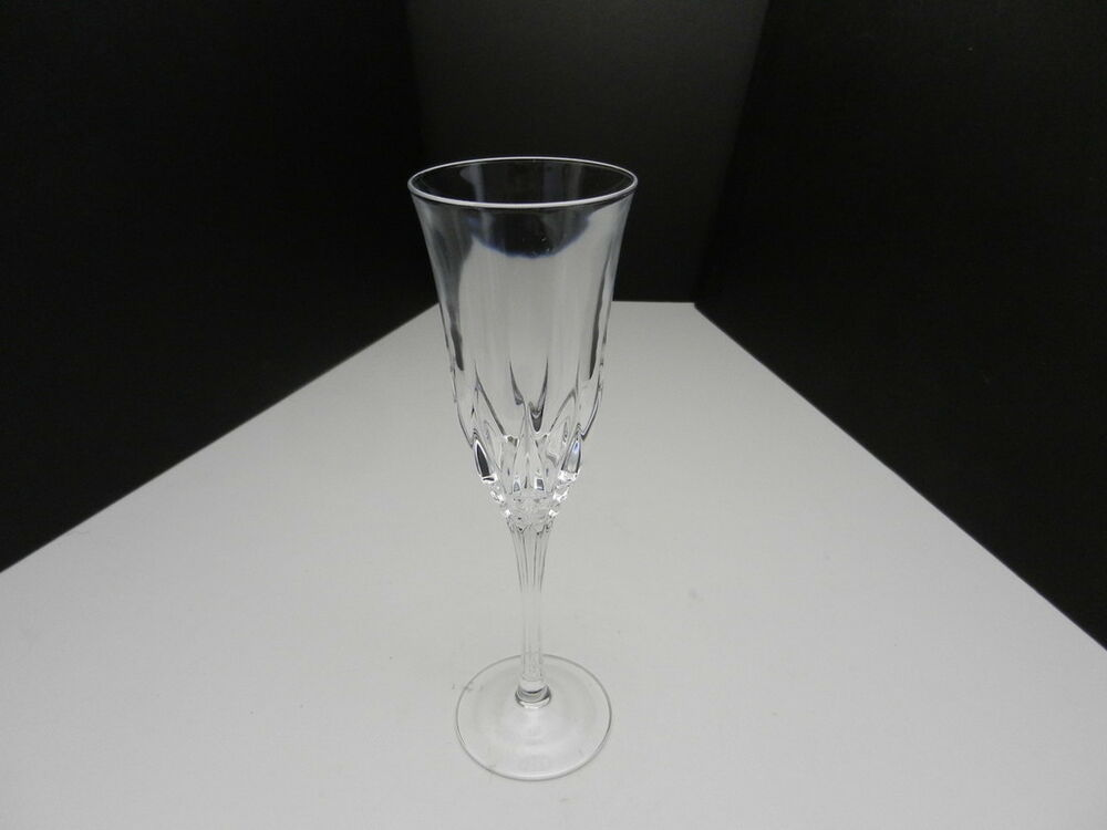cristal d 39 arques castell champagne flute clear crystal 8 5 8 t ebay. Black Bedroom Furniture Sets. Home Design Ideas