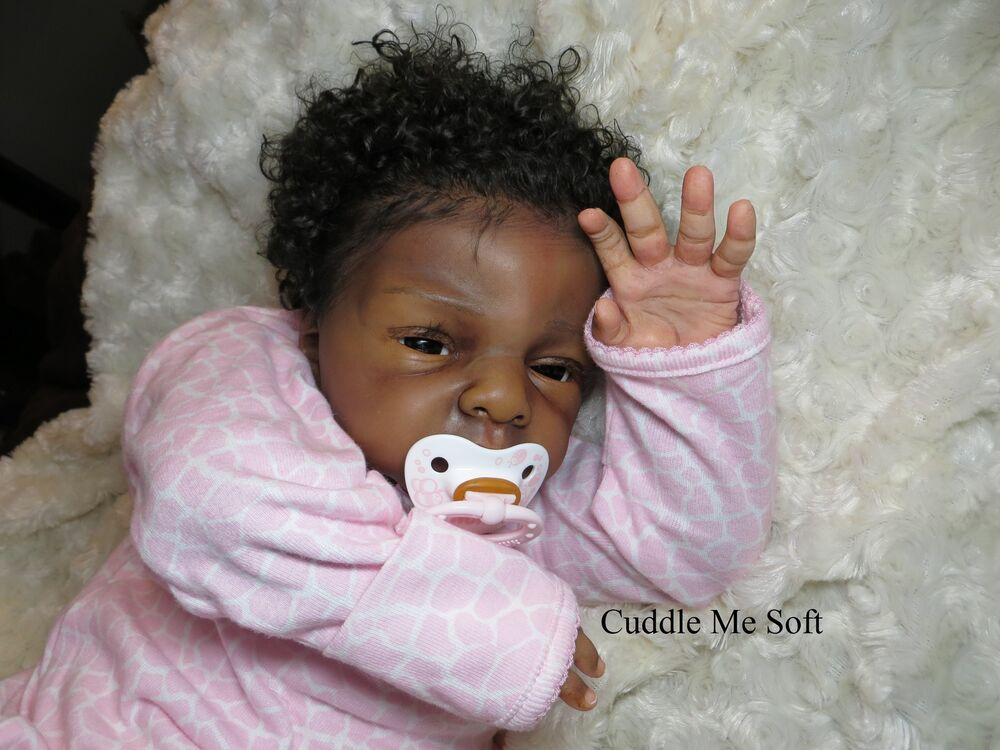 Cuddle Me Soft Aa Ethnic Lifelike Reborn Baby Girl