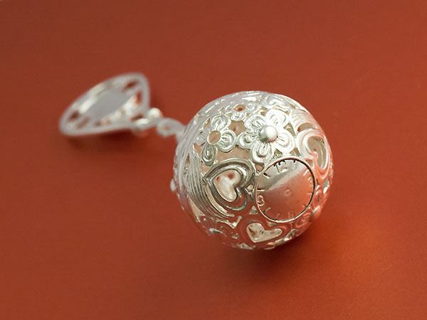 Sterling Silver 925 Baby Rattle 17g Christening Gift Dummy