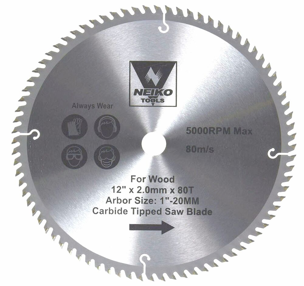 Neiko 10768a 12 Quot X 80t Carbide Tipped Woodworkig Saw