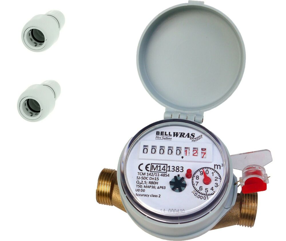 15mm- 1/2 BSP Cold Water Meter: HEP 2O connection | eBay